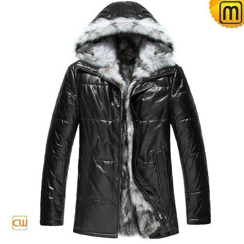 manteau capuche fourrure homme CW848366