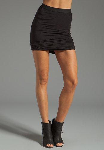 T by Alexander Wang Marled Drape Jersey Skirt