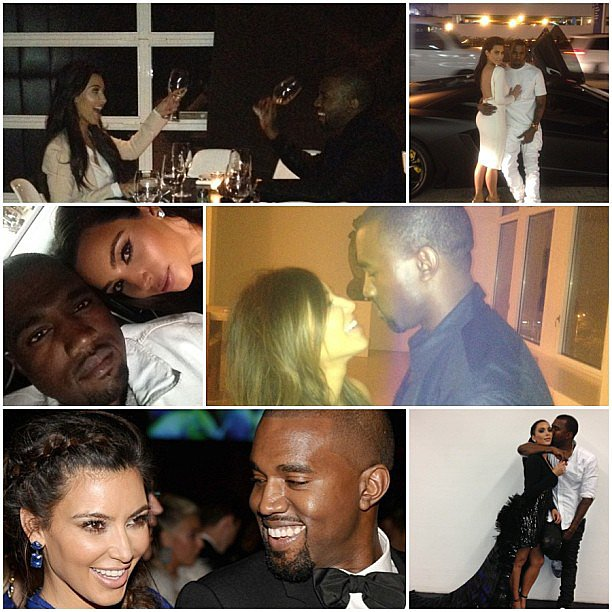 Kim Kardashian shared this sweet collage on Kanye West's birthday. Source: Instagram user kimkardashian