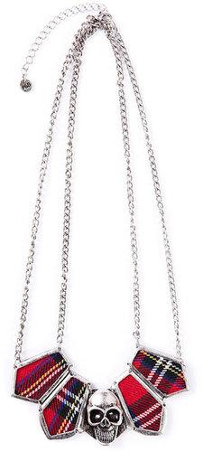 Tartan Skull Necklace
