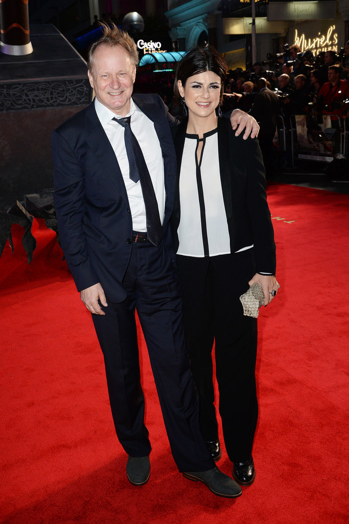 Stellan Skarsgard attended the premiere with Megan Everett.