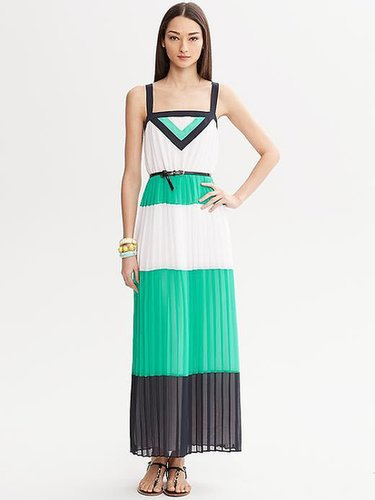Milly Collection Colorblock Pleated Patio Dress