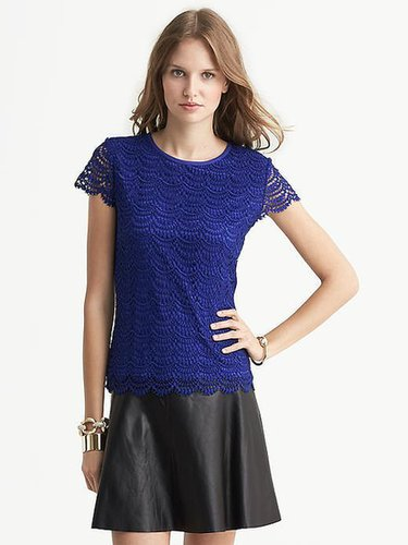 Scalloped Lace Tee