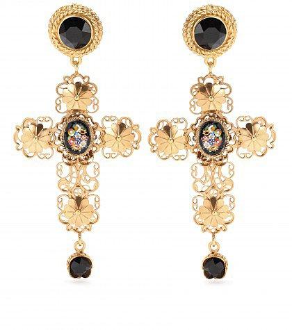 Dolce & Gabbana - Gold-plated clip-on earrings  - mytheresa.com GmbH