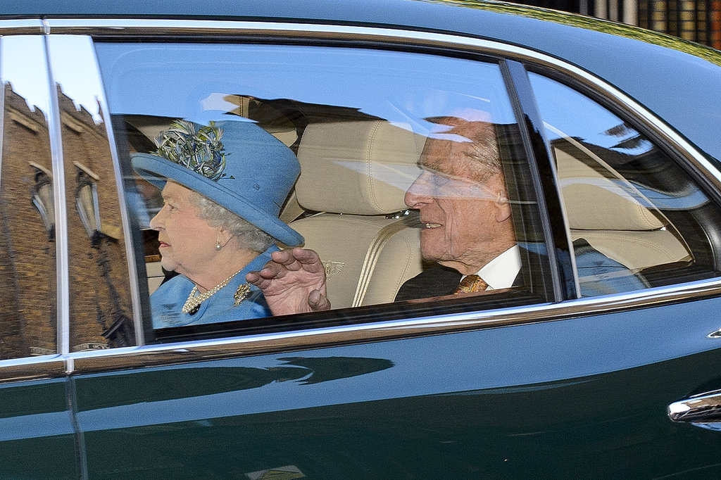 The queen and Prince Philip, Duke of Edinburgh, arrived at the christening.
