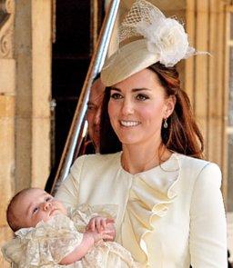 Kate Middleton at Prince George's Christening