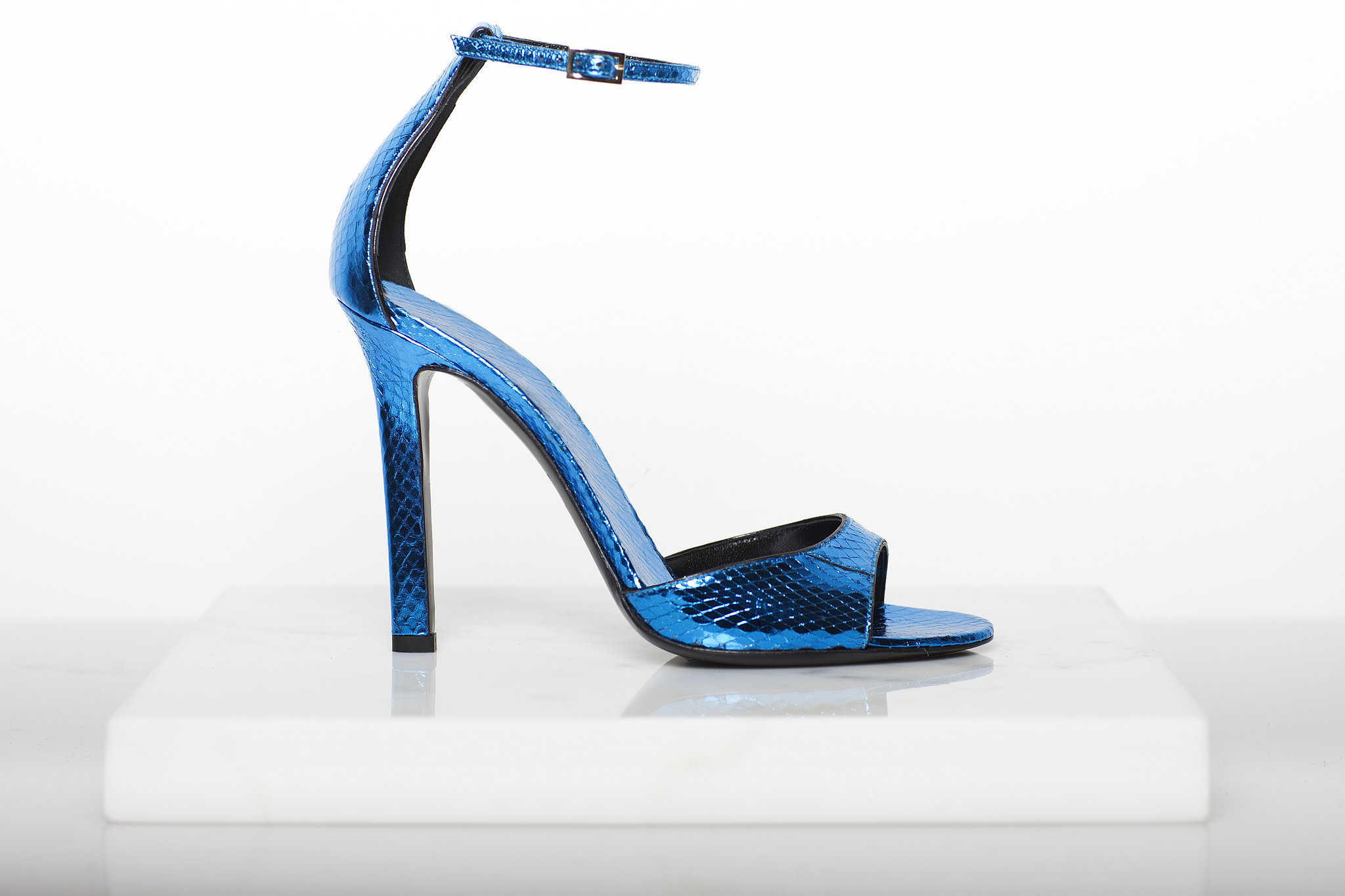 Whisper Watersnake Sandal in Turquoise ($750) Photo courtesy of Tamara Mellon