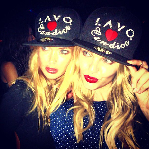 Doutzen Kroes and Candice Swanepoel celebrated the latter's birthday with a bash at Lavo in NYC. Source: Instagram user angelcandices