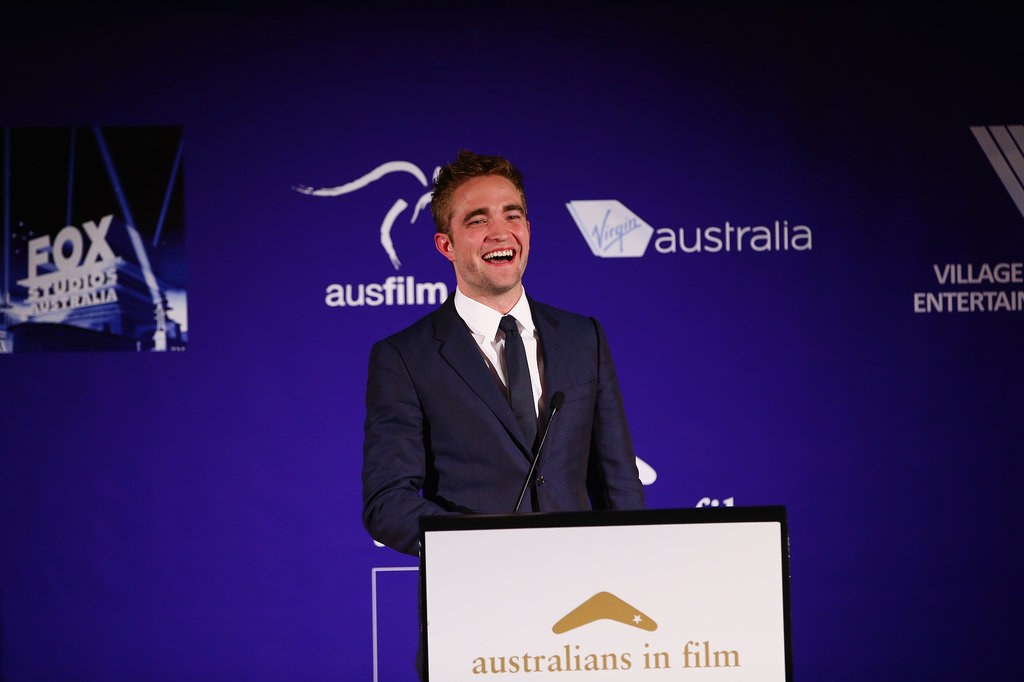 Robert Pattinson presented an award at LA's Australians in Film Awards.