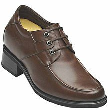 black / brown Men Elevator Dress Shoes height taller 9cm / 3.54inch