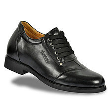 Black / Brown Men Elevator Dress Shoes grow taller 7cm / 2.75inch