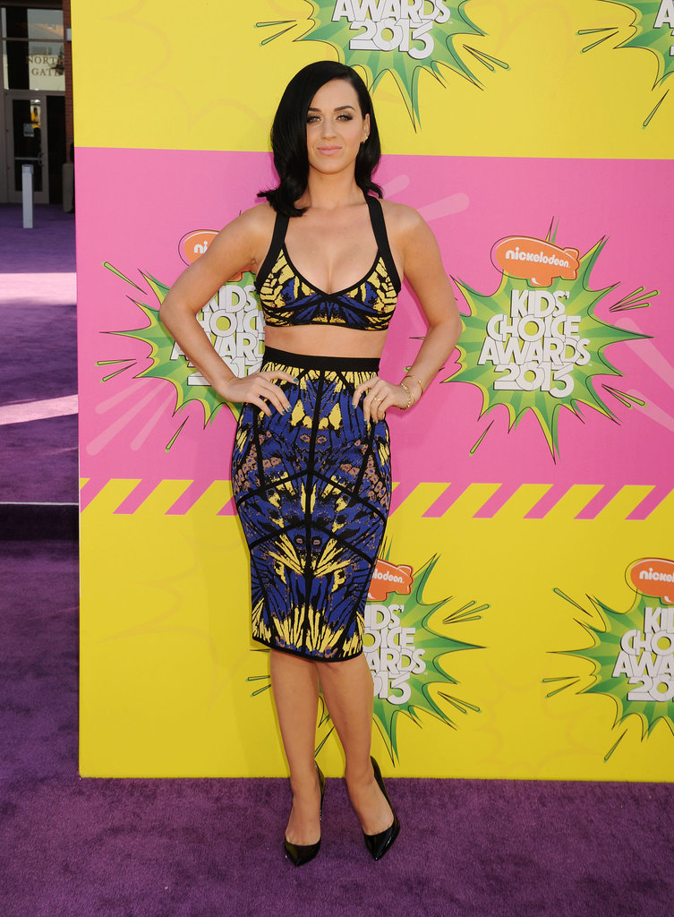 She flaunted her curves at the Kids' Choice Awards in LA in March 2013.