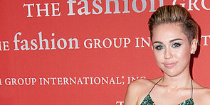 Miley Goes Green to Party With Models at the Night of Stars Gala
