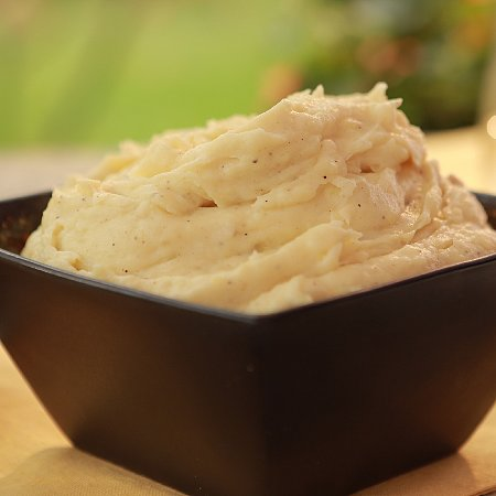Goat Cheese Smashed Potatoes