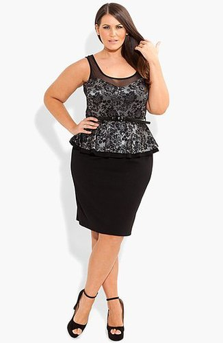 City Chic Lace Peplum Dress (Plus Size)