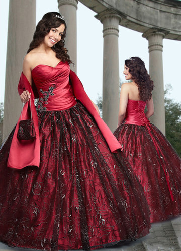 Ball Gown Sweetheart Embroidery Satin Floor-length Quinceanera Dress at sweetquinceaneradress.com