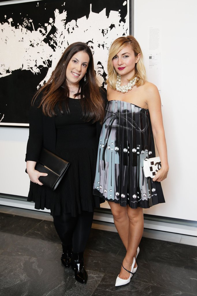 At amfAR's cocktail party, Mary Katrantzou and Nasiba Adilova got together for a good cause.