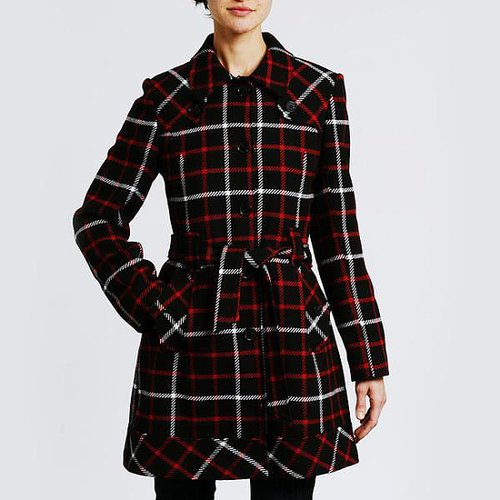 Tommy Hilfiger Women's Belted Wool Coat