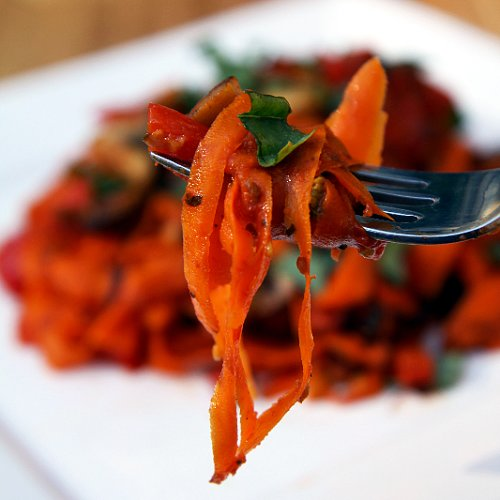 Paleo Pasta Recipe: Carrot Fettuccine