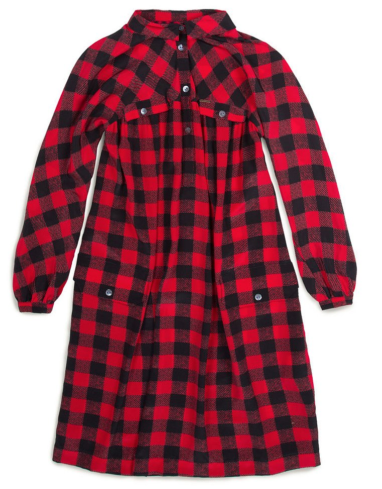 Super-heritage brand Woolrich John Rich & Bros. has fully entered the 21st century with a new ecommerce site! There are lots of good coats and sweaters, but it was this dress ($365) that caught my eye. It's the brand's classic red plaid but done in luxurious silk. — LM