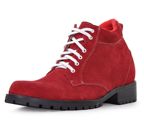 Red men heel gain boots that make you taller 9cm / 3.54inch