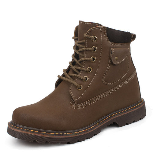 Brown men elevated boots that make you taller 8cm / 3.15inch