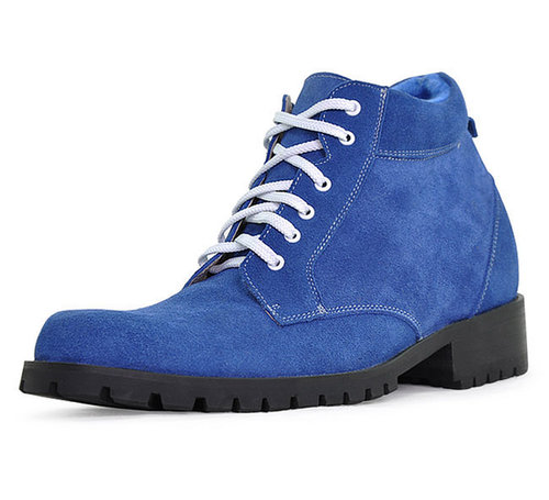 Blue men height lift boots that make you taller 9cm / 3.54inch