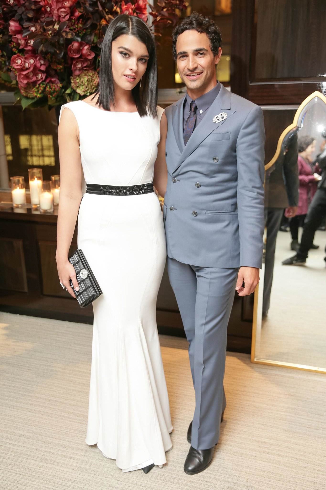 Crystal Renn and Zac Posen flaunted their flawless tailoring at Tiffany & Co.'s Lori Goldstein bash.