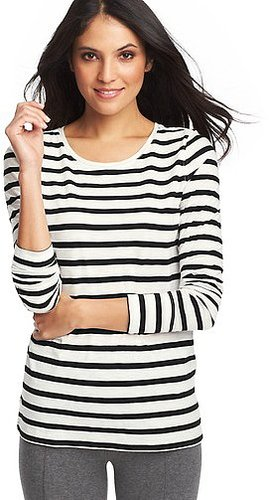 Striped Cotton Layering Tee