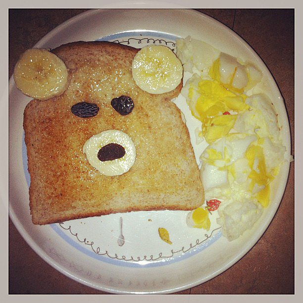 When you get excited about teddy bear toast, but your daughter says you failed.  Source: Instagram user beccruz