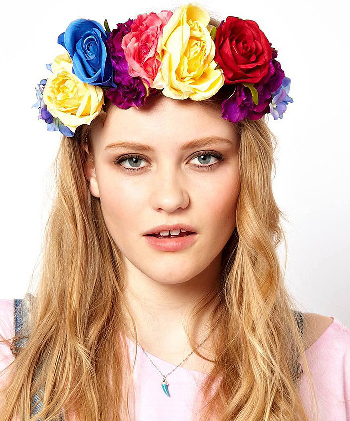 Frida Kahlo wannabes will love this  ASOS Rock 'n' Rose Floral Crown Headband ($49, originally $82) to add to their costume.