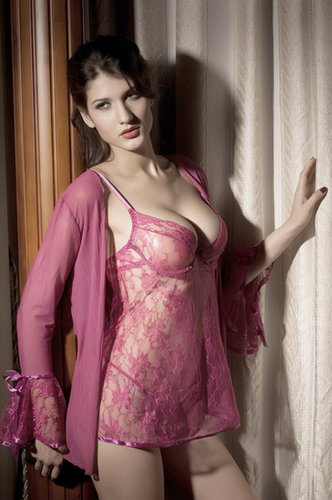 cheap Rose princess lace badydoll coat set sale