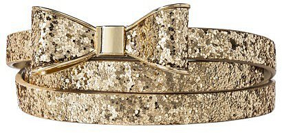 Mossimo Supply Co. Glitter Bow Belt - Gold