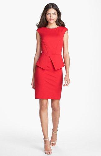Ted Baker London 'Evvie' Structured Waist Stretch Peplum Sheath Dress