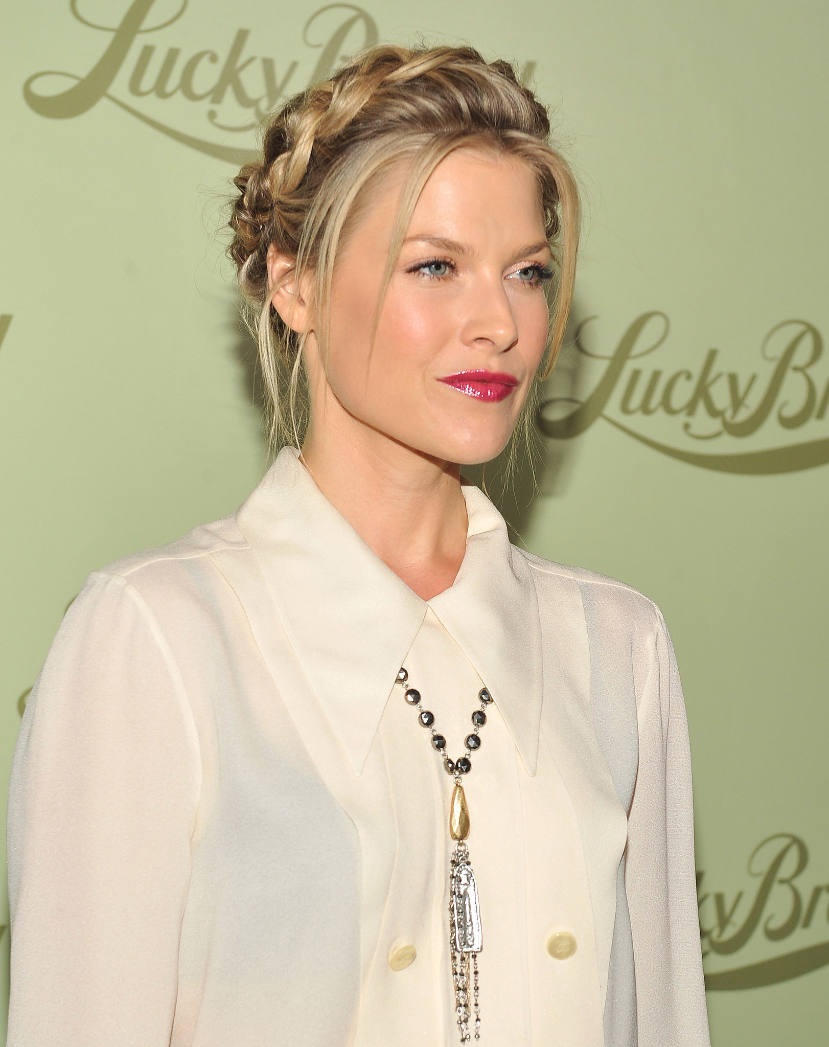 Ali Larter's crown braid wrapped around her entire head for a more intricate style.