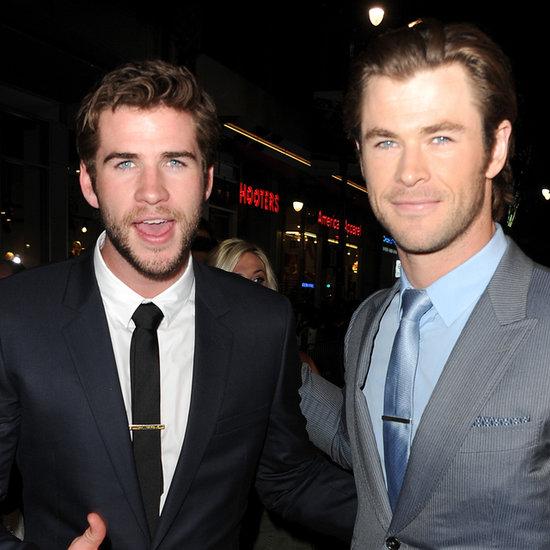 Chris & Liam Hemsworth At Thor: The Dark World Premiere