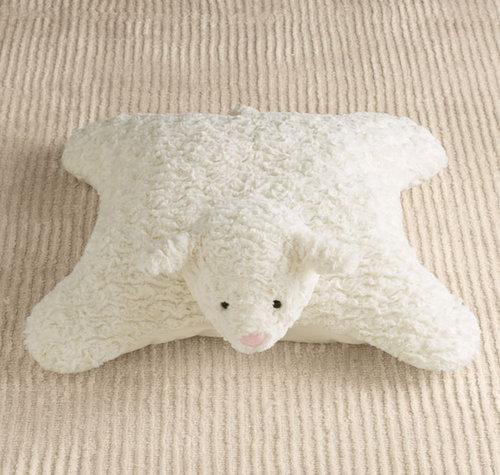 For Infants: Plush Lamb Floor Pillow