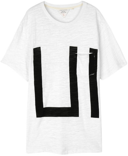 Graphic Pocket Tee - White