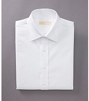 MICHAEL Michael Kors® Men's White Long Sleeve Twill Dress Shirt