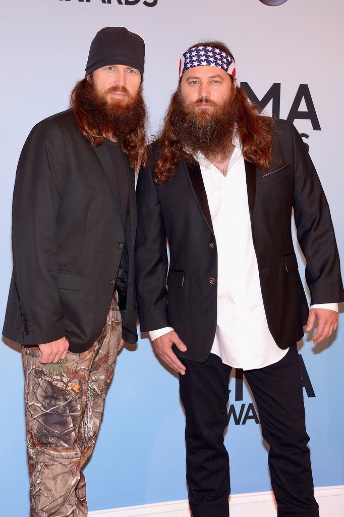 Two of the Duck Dynasty brothers Jase and Willie Robertson rocked the CMAs red carpet together.
