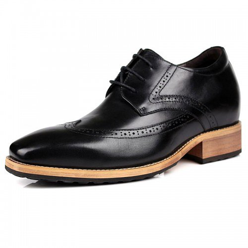 Korean men tide elevator business shoes be taller 8cm / 3.15inches Bullock height dress shoes - Topoutshoes.com