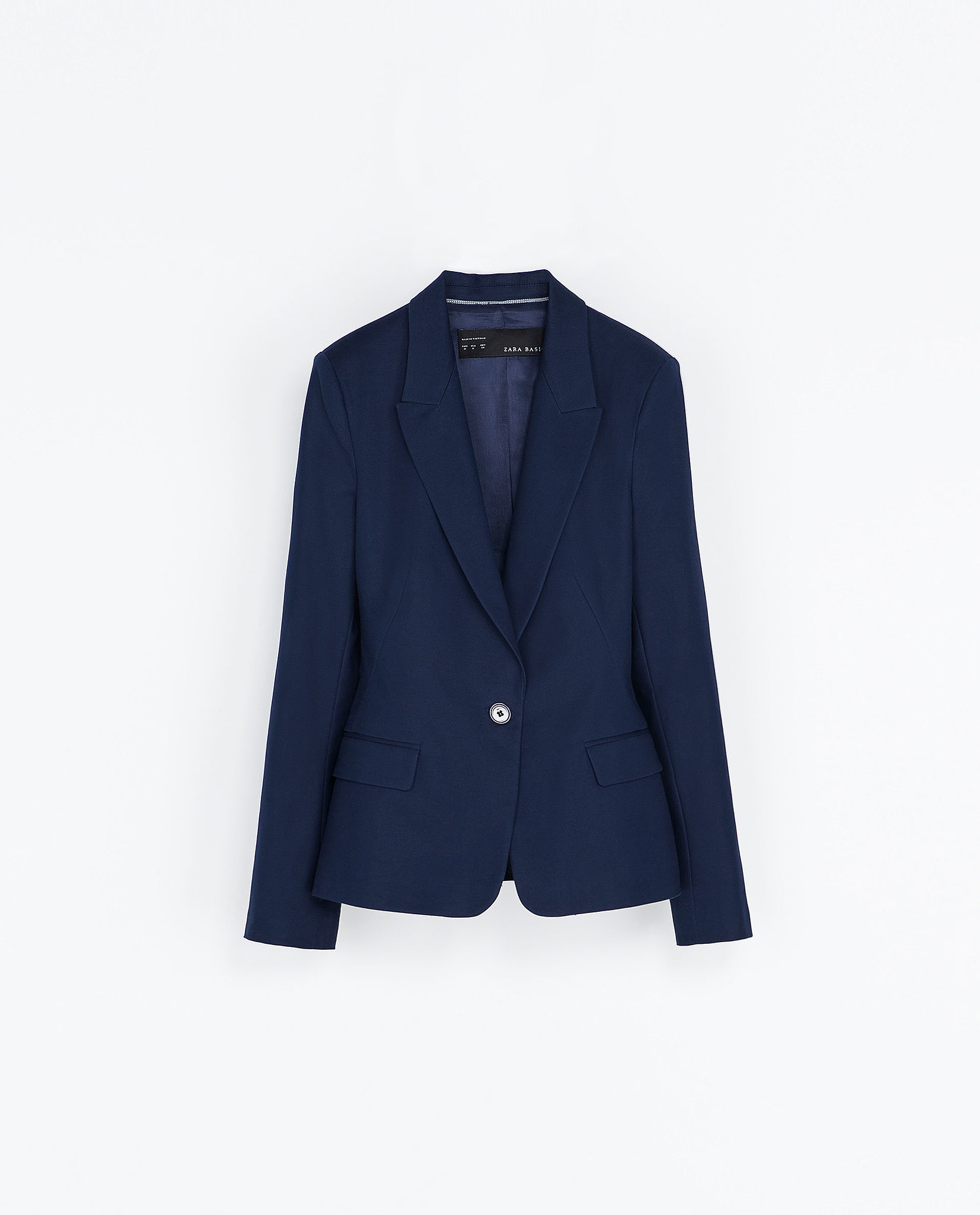 Try mixing this Zara single-button blazer ($50) with black pants for
