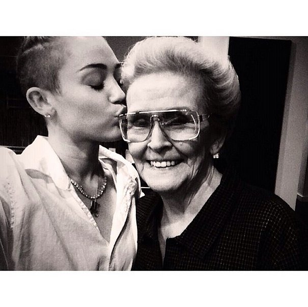 After paying homage to her with a new tattoo, Miley Cyrus shared this snap with her grandmother. Source: Instagram user mileycyrus