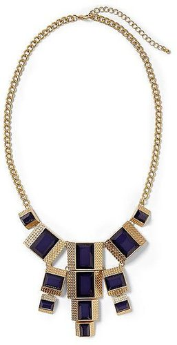 Pim + Larkin Deep Blue Statement Necklace