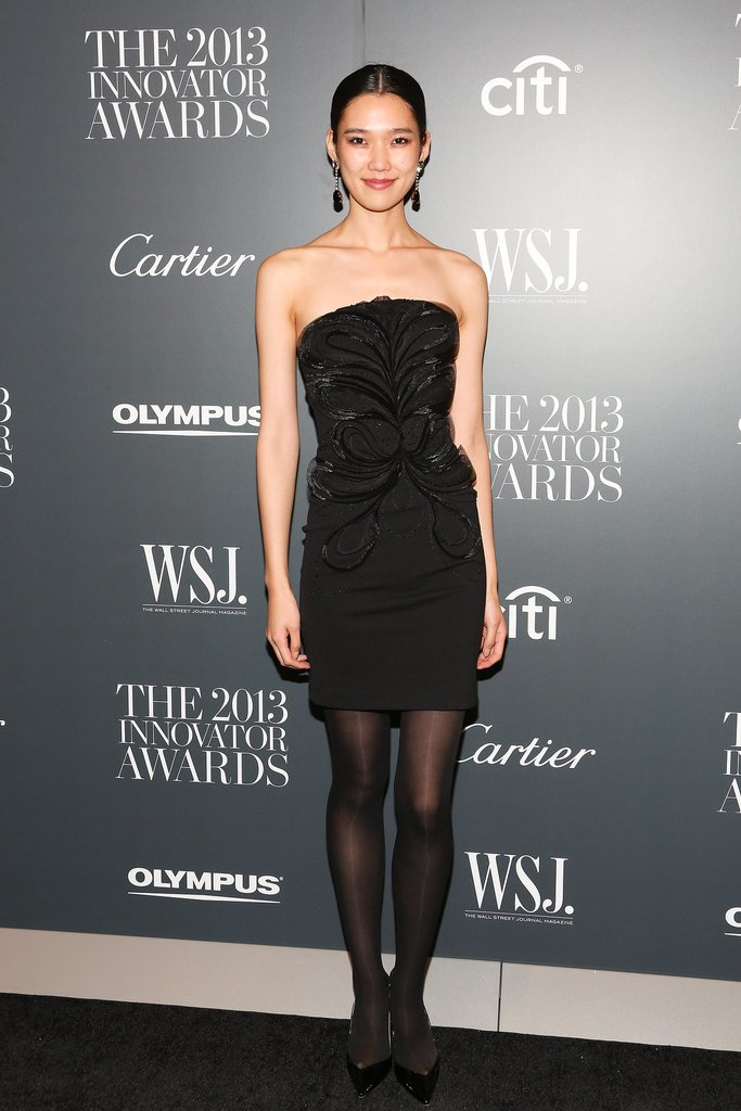 Tao Okamoto flaunted her LBD style at the WSJ. bash.