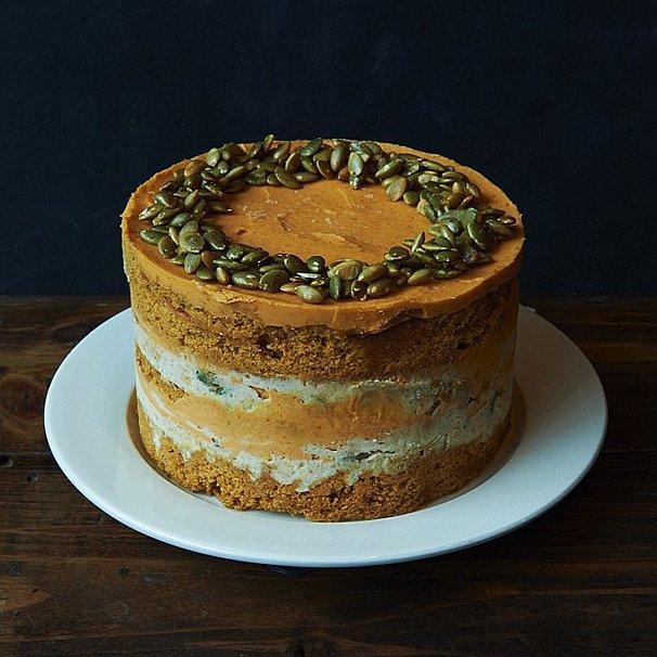 Only Vogue could make pumpkin pie look so chic. Source: Instagram user voguemagazine