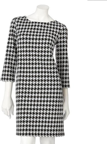 Apt. 9 ® houndstooth ponte shift dress
