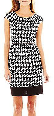 Alyx® Cap-Sleeve Houndstooth Dress