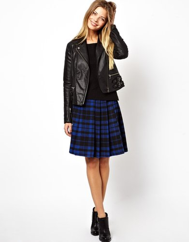 ASOS Mini Skirt in Plaid Check with Side Zip