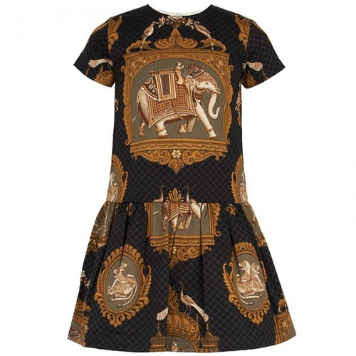 Livly Antique Elephant Scarf Print Dress